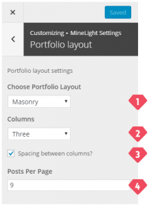 4-customizer-minelight-settings-portfolio-layout