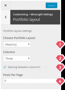 4-customizer-minelight-settings-portfolio-layout